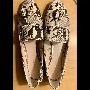 Zara - Basic - Tassled Loafers - Animal print
